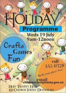 July Holiday Programme